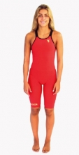 WOMAN KNEE SUIT CARBON RED